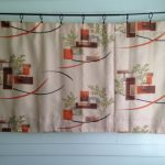 Mixed mid century and modern style curtain with unique pattern