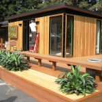 Modern Wooden Cabana With Big Windows And Awesome Deck