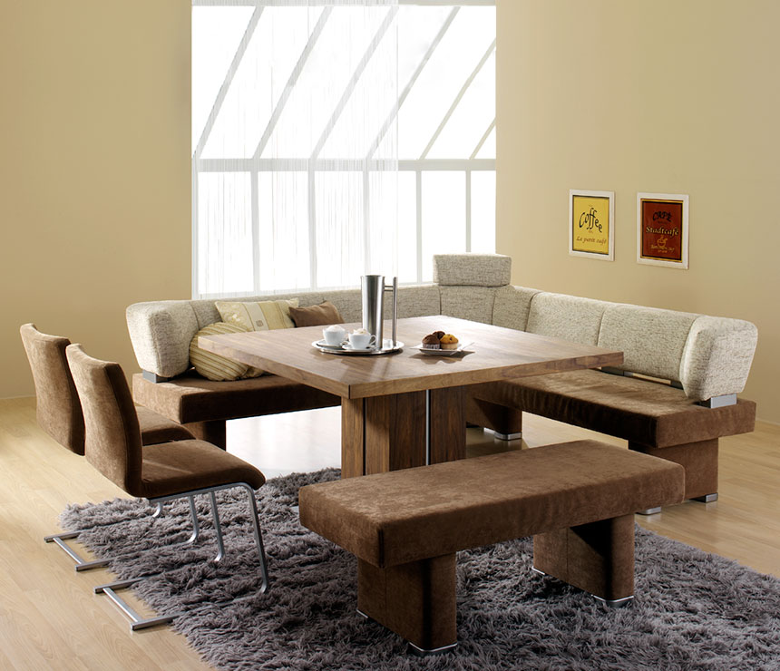 Dining Room With Bench: Dining Room Tables With Benches