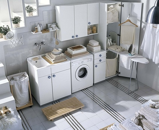 Modern Cabinet System IKEA In White Colour For A Laundry Room A Closet  Organizer With Pull