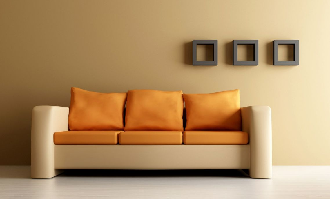 Cool Couch Cushions orange leather couch furniture | homesfeed