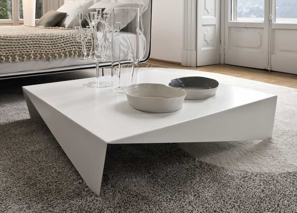 Modern Minimalist Coffee Table Idea In Large Size And White Color