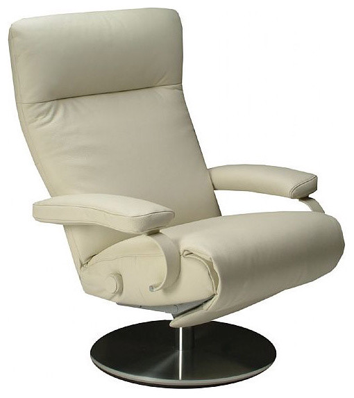 modern swivel recliner idea in white
