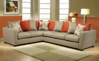 Most Comfortable Pillow Couch With Orange And Grey Rug
