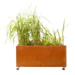 Movable steel planter by Corten