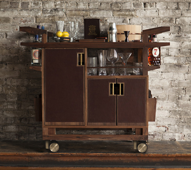 Wooden bar cart designs homesfeed for Wooden bar design