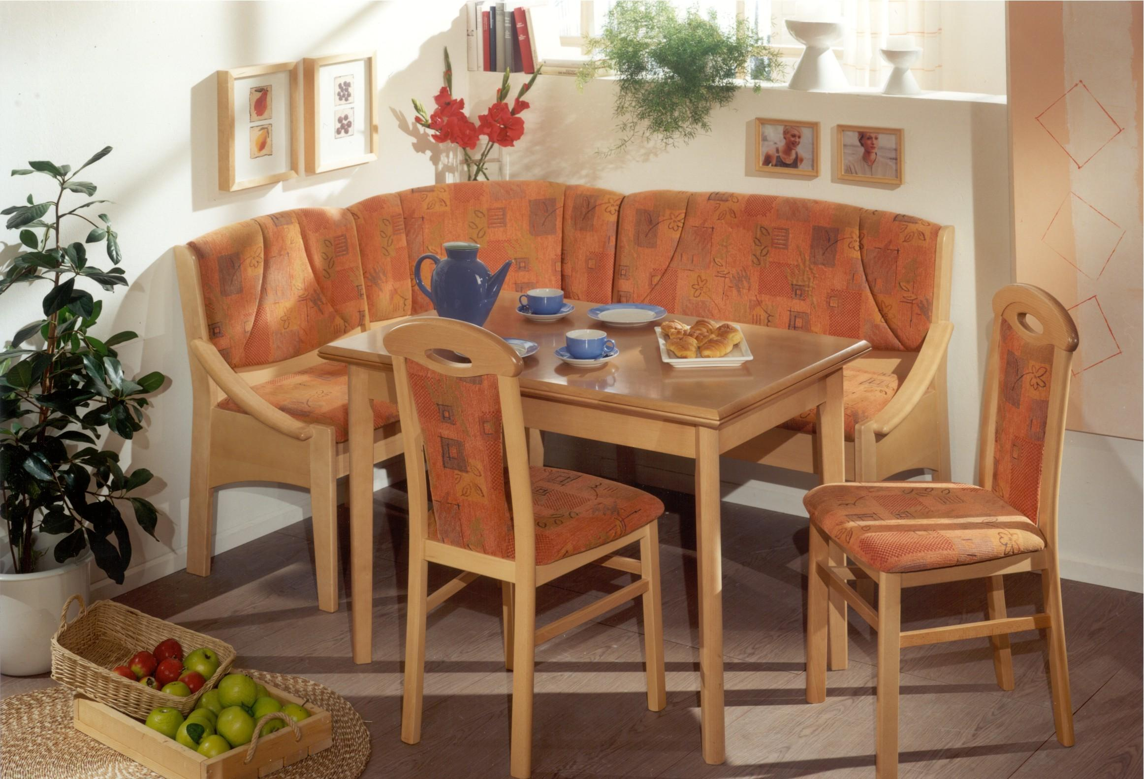 Oak Wood Kitchen Dining Room Nook Sets Chairs And Table Fresh Plants And  Frames