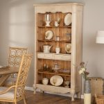 Old Fashion Wooden Baker Rack For Plates And Glass In Dining Room Near To Wood Table And Chairs