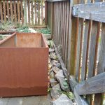 Outdoor Corten steel box planter  idea