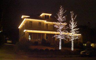 Outdoor Lights Decor Christmas Exterior House