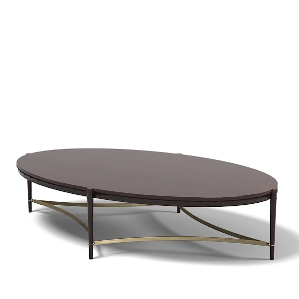 Oversized Oval Wood Coffee Table In Black