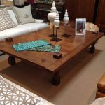 Oversized wooden coffee table  idea
