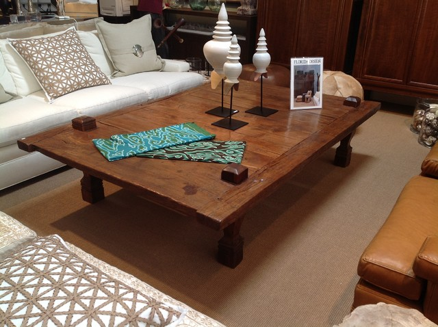 Vast selections of oversized coffee tables homesfeed for Large wood coffee table