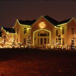 Patio Lights Beautiful Sparkling Outdoor Cristhmas On House And Plants