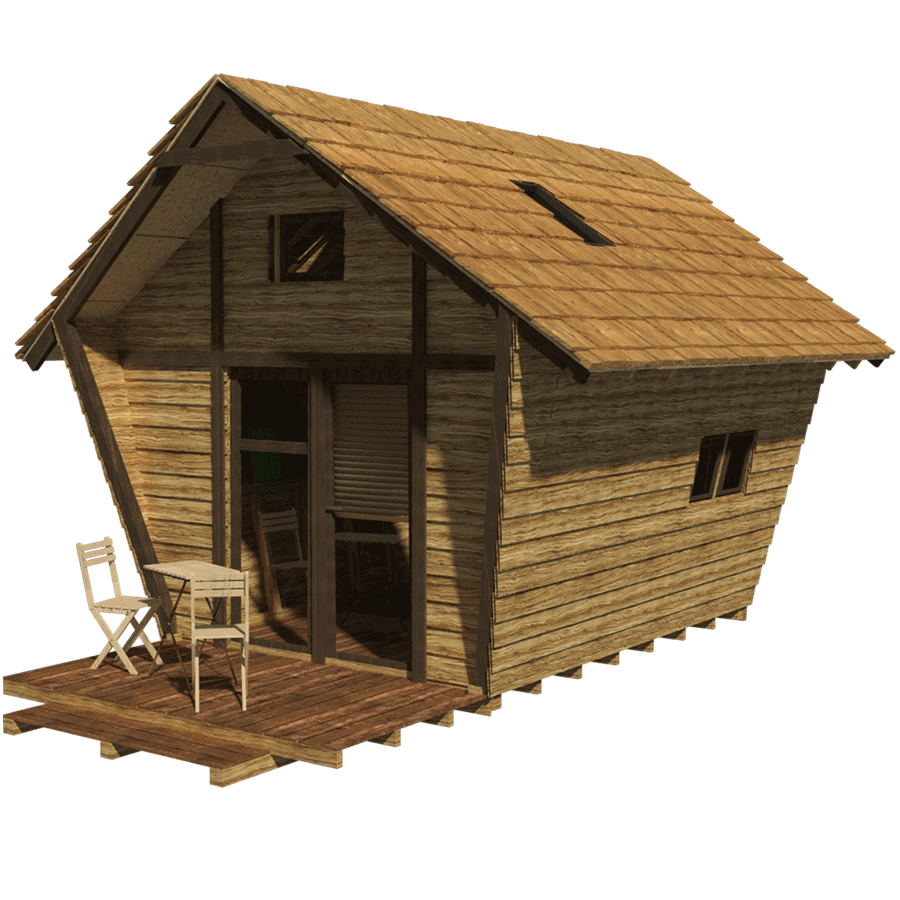 Unique cabin plans with one bedroom homesfeed for Tiny cabin plans