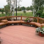 Perfect Decorating Deck With Sitting Spot And Fresh Flowers
