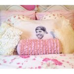 Pink And Yellow Feminim Pillow Cases On Florist Bed