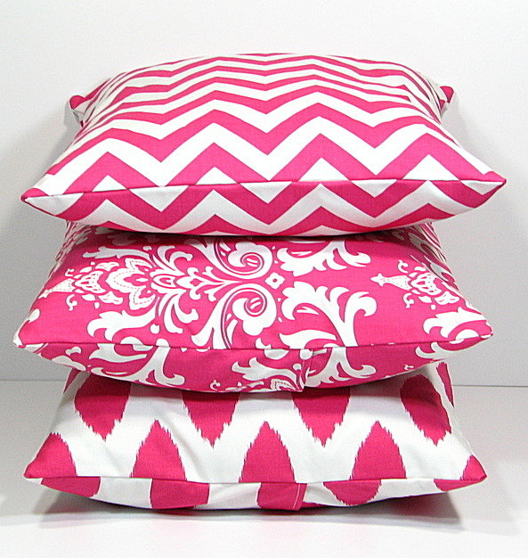 Wide Variants of Pink Accent Pillows for Indoor or Outdoor Decor