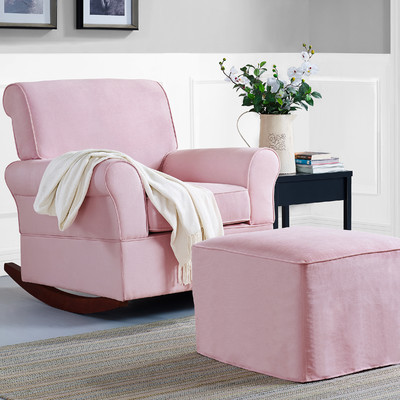 Pink Baby Relax Mackenzie Rocking Chair And Ottoman