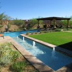 Pool Yard With Natural Landscape
