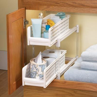 Pull Out Rack Inside Bathroom Cabinet