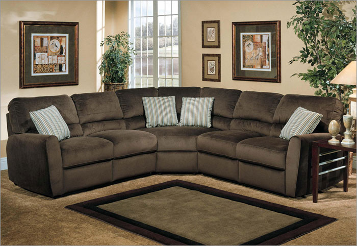 Prime Microfiber Reclining Sectional Create So Much Coziness Machost Co Dining Chair Design Ideas Machostcouk