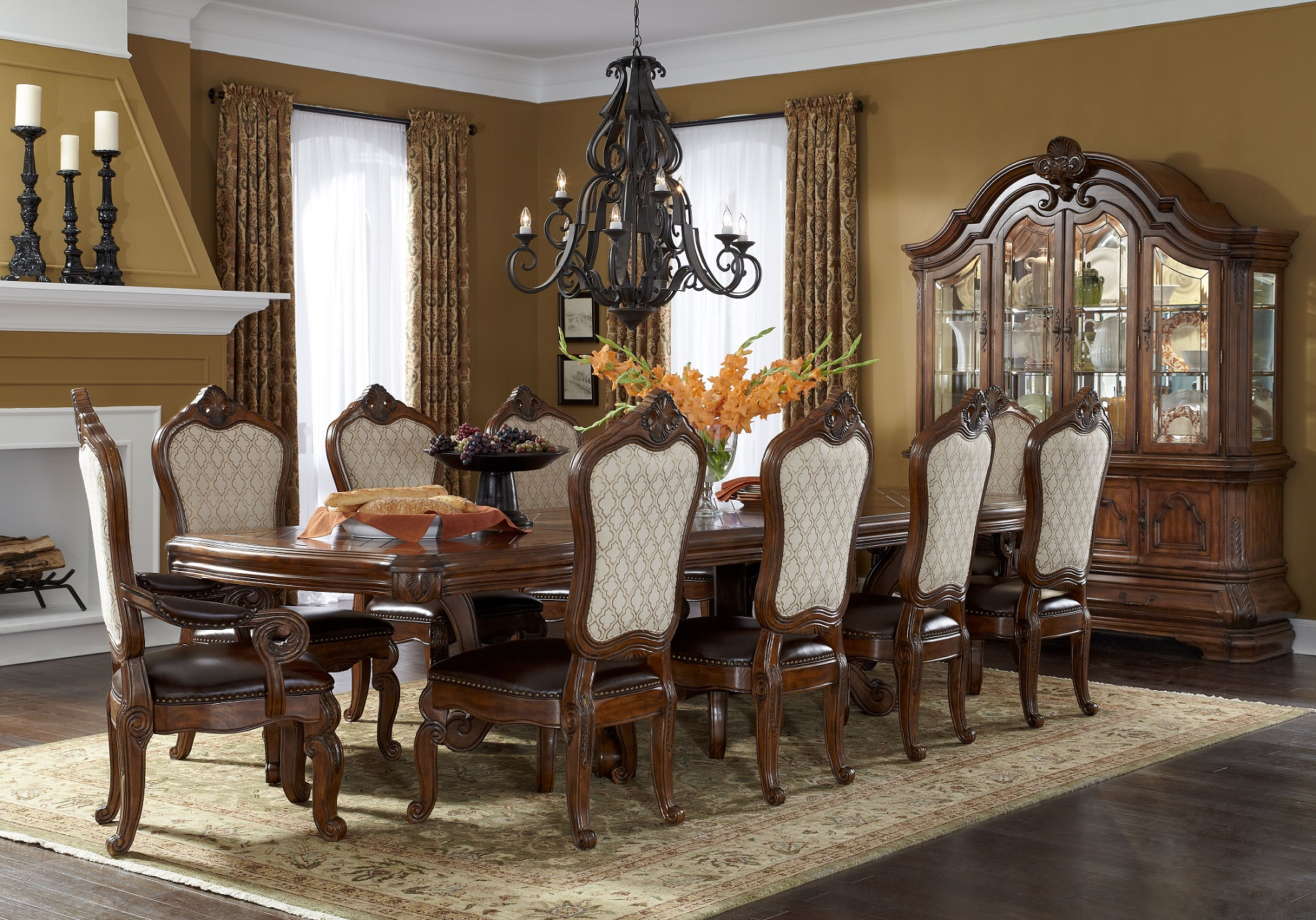 11 piece dining room set homesfeed for Large dining room sets