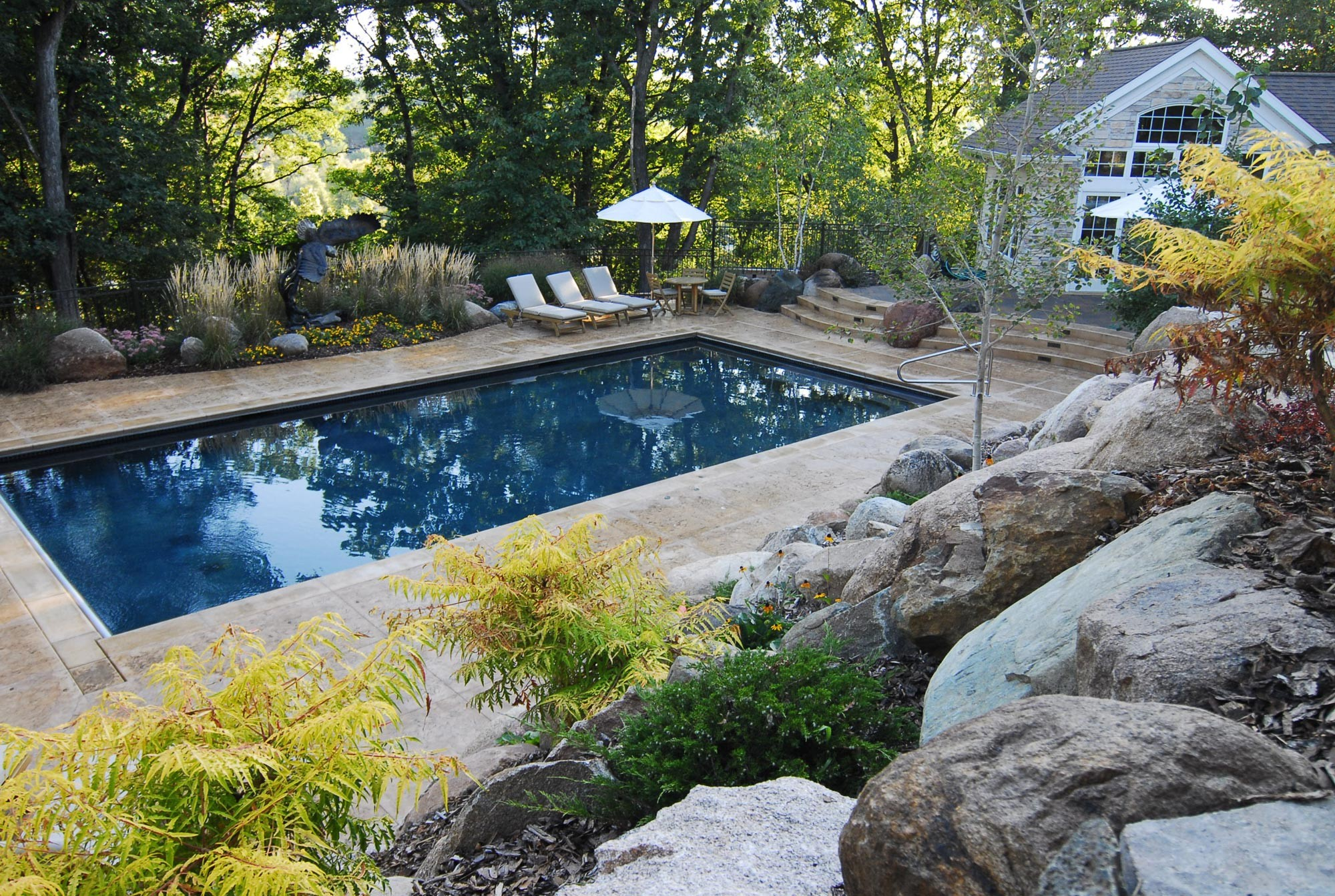 Rectangular pool designs homesfeed for Pool landscape design ideas