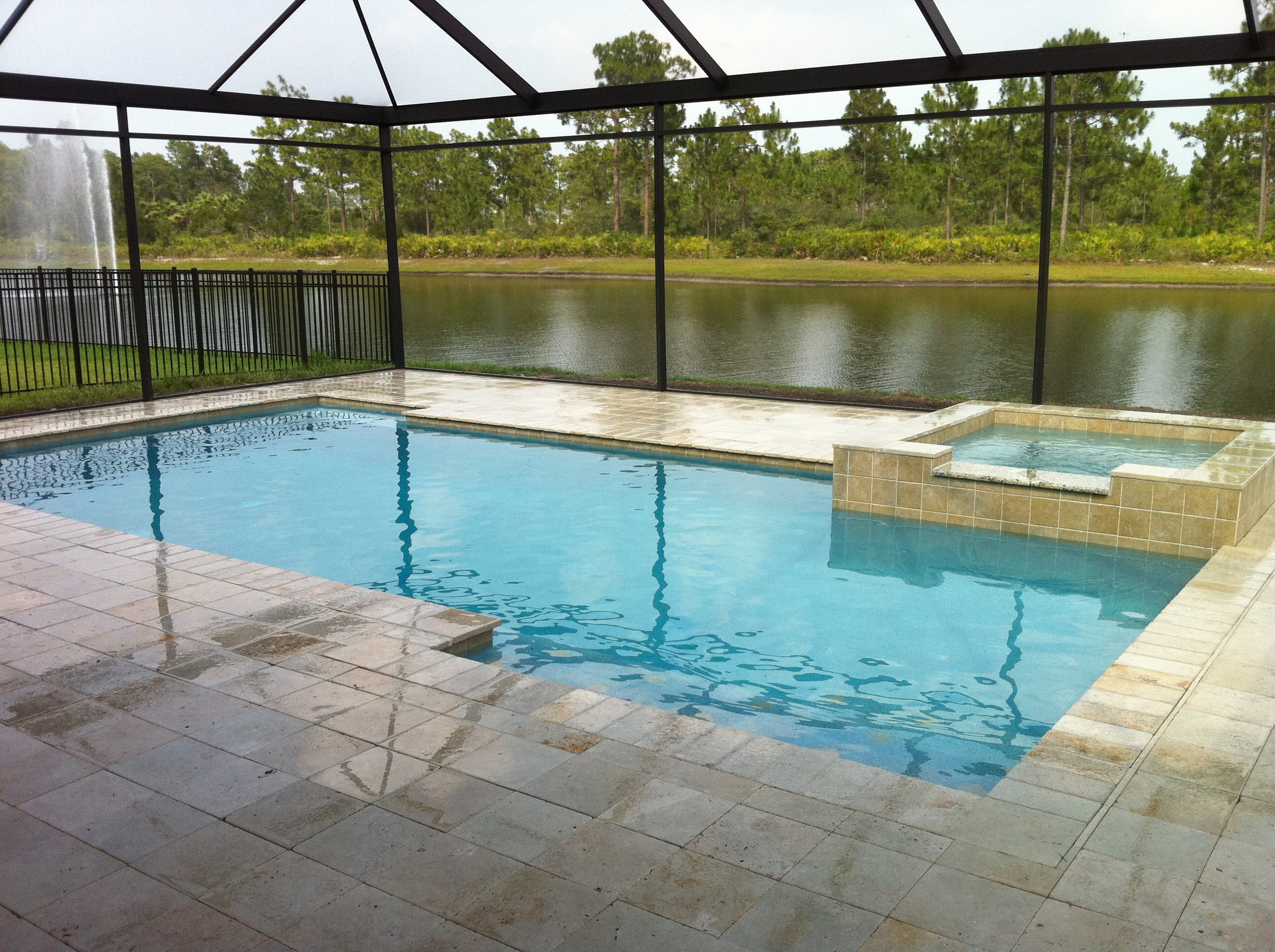 Rectangular pool designs with spa new 50 rectangle pool for Pool design company polen