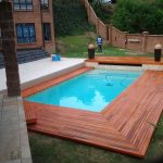 Rectangular Pool With Wooden Deck