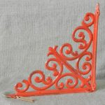 Red And Stylish Wall Metal Shelf Brackets