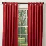 Red Blackout Window Curtain With Rod