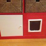 Red Cat Litter Box With Door