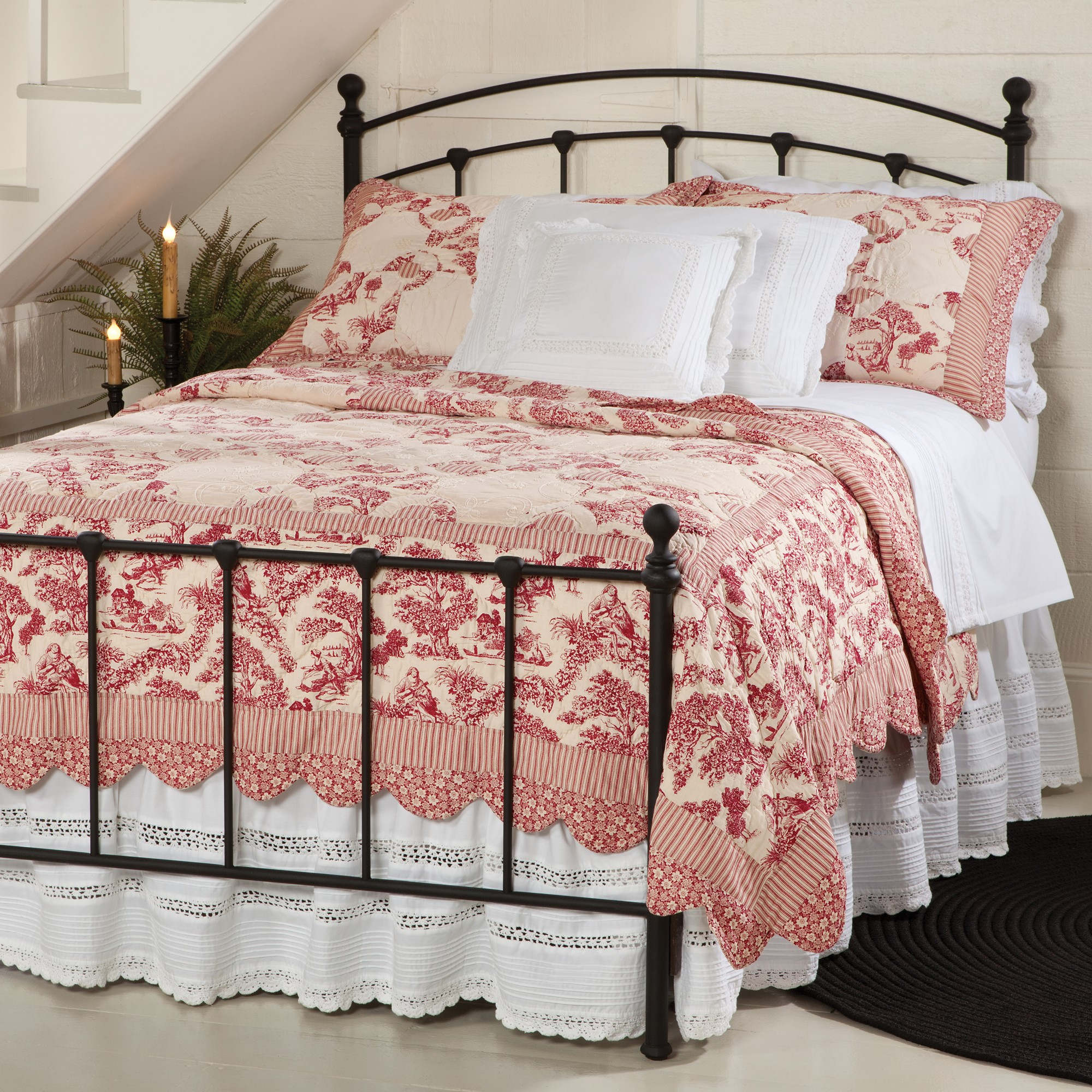 Red Toile Bedding Design HomesFeed