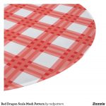 Red WHite Pattern Cutting Board