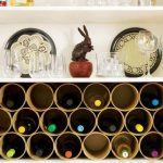 Rolled paper wine  rack