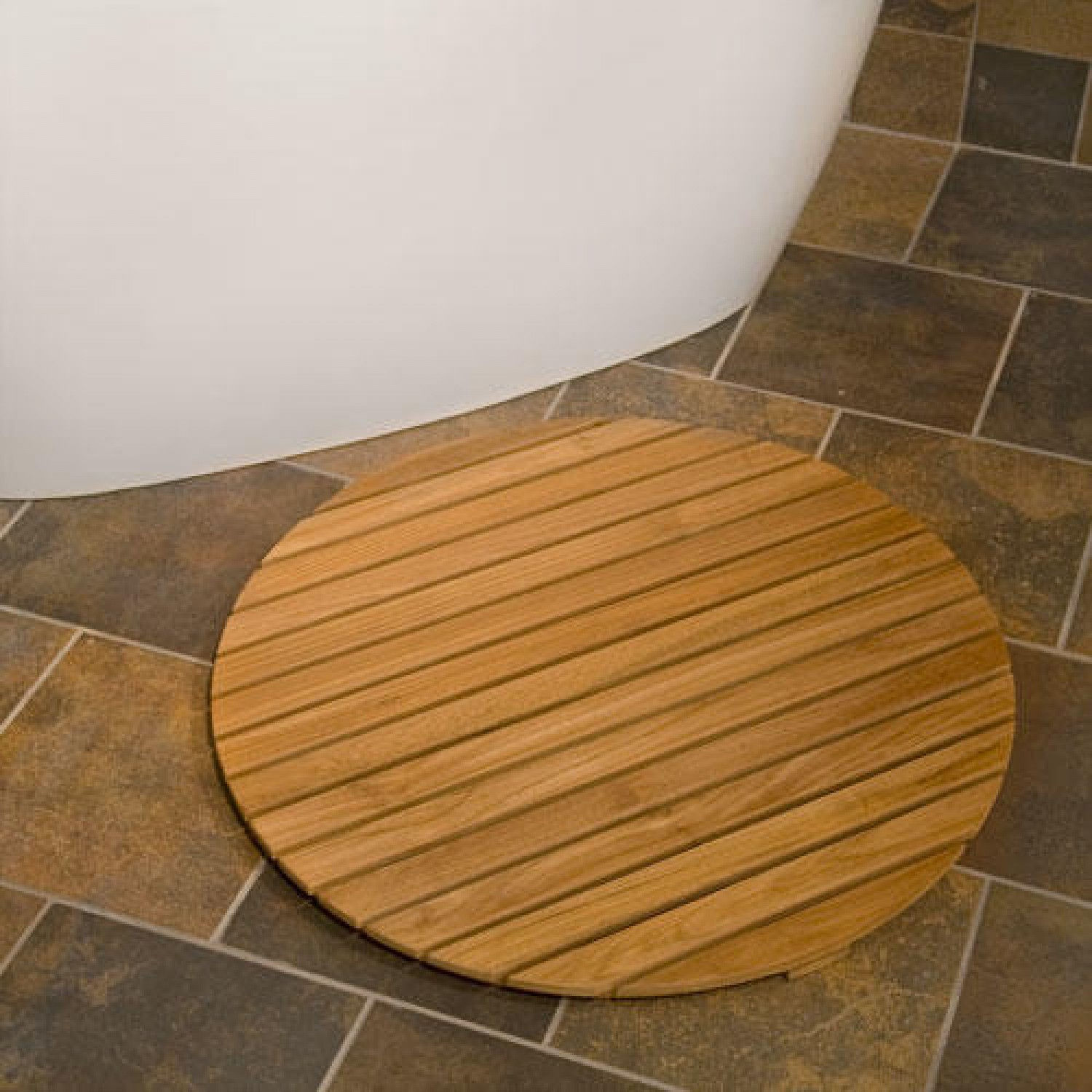 Wood Shower Mat: Give A Little Natural Accent to Your Bathroom ...
