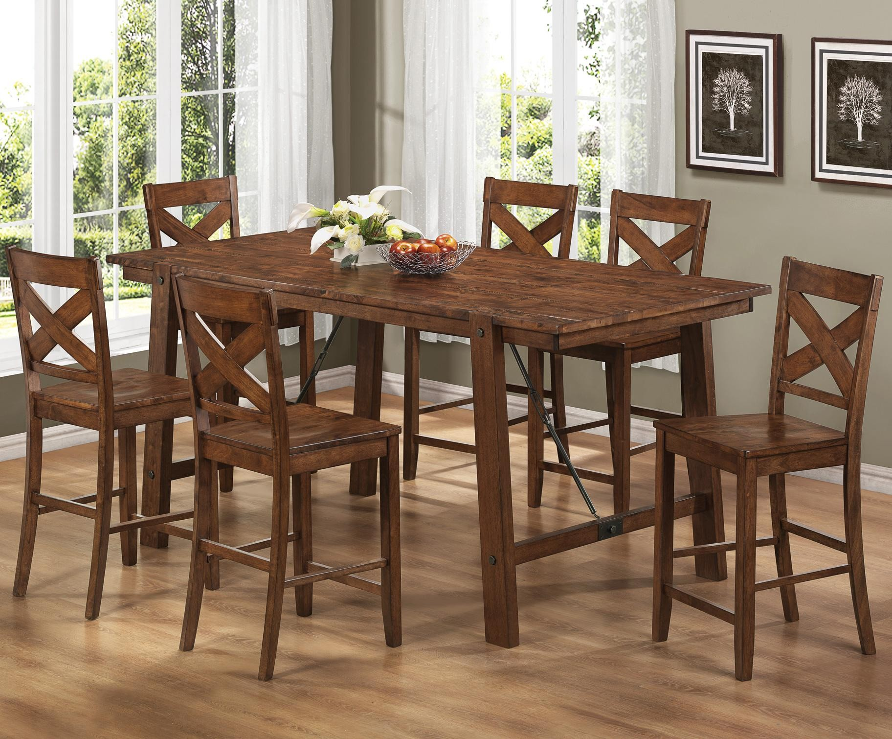 High top kitchen table sets homesfeed for Kitchen table set 6 chairs