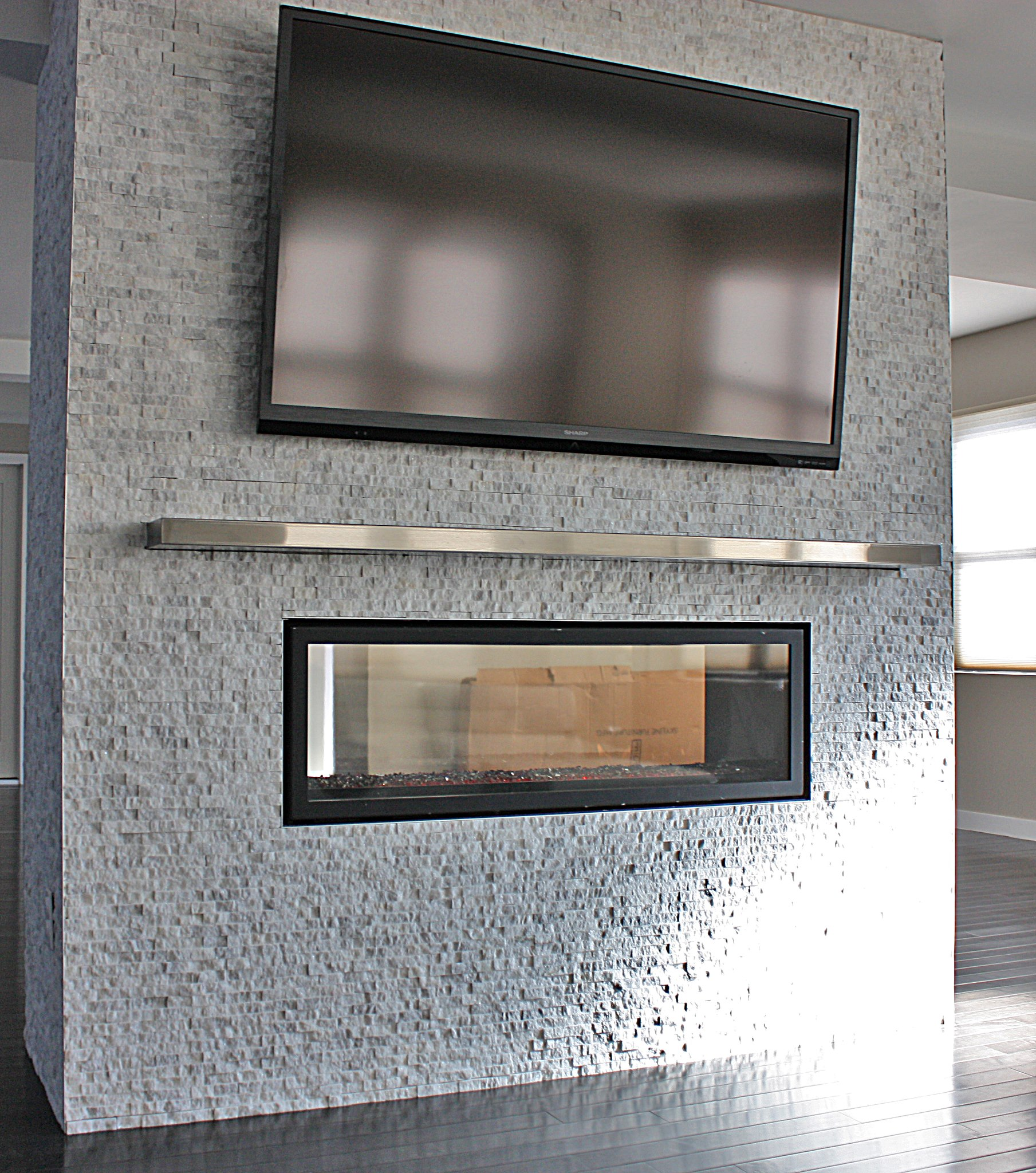 See Through Concrete See Through Electric Fireplace Homesfeed
