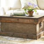 Shabby look trunk coffee table idea