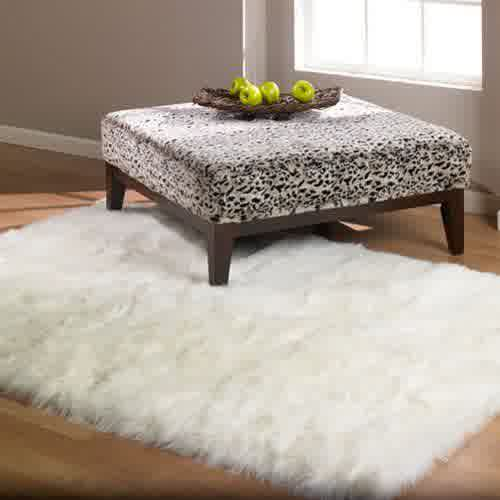 Fluffy White Rug: A Small Floor Feature for Ultimate Beauty and ...