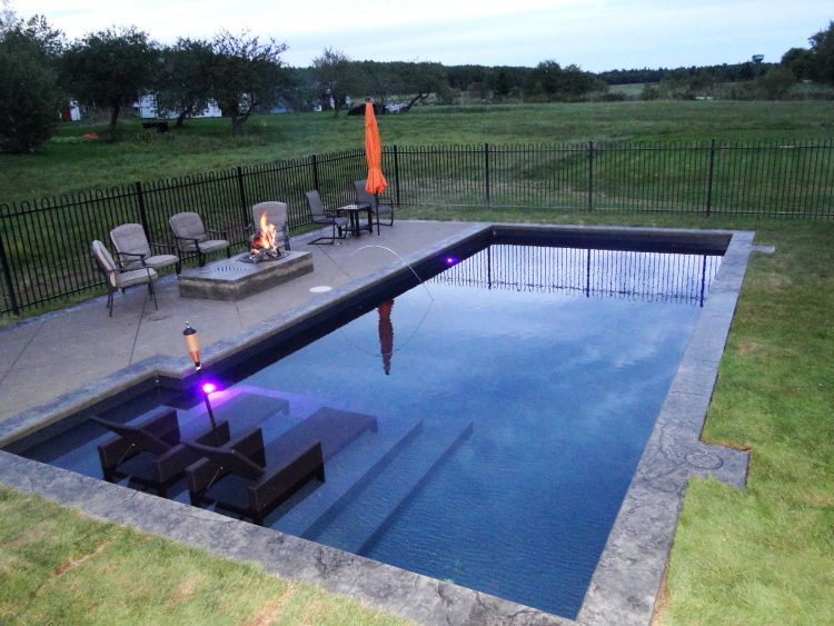 Rectangular pool designs homesfeed for Simple inground pool designs