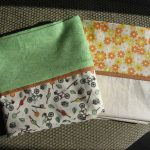 Simple With Green White And Orange Color Of Pillow Case