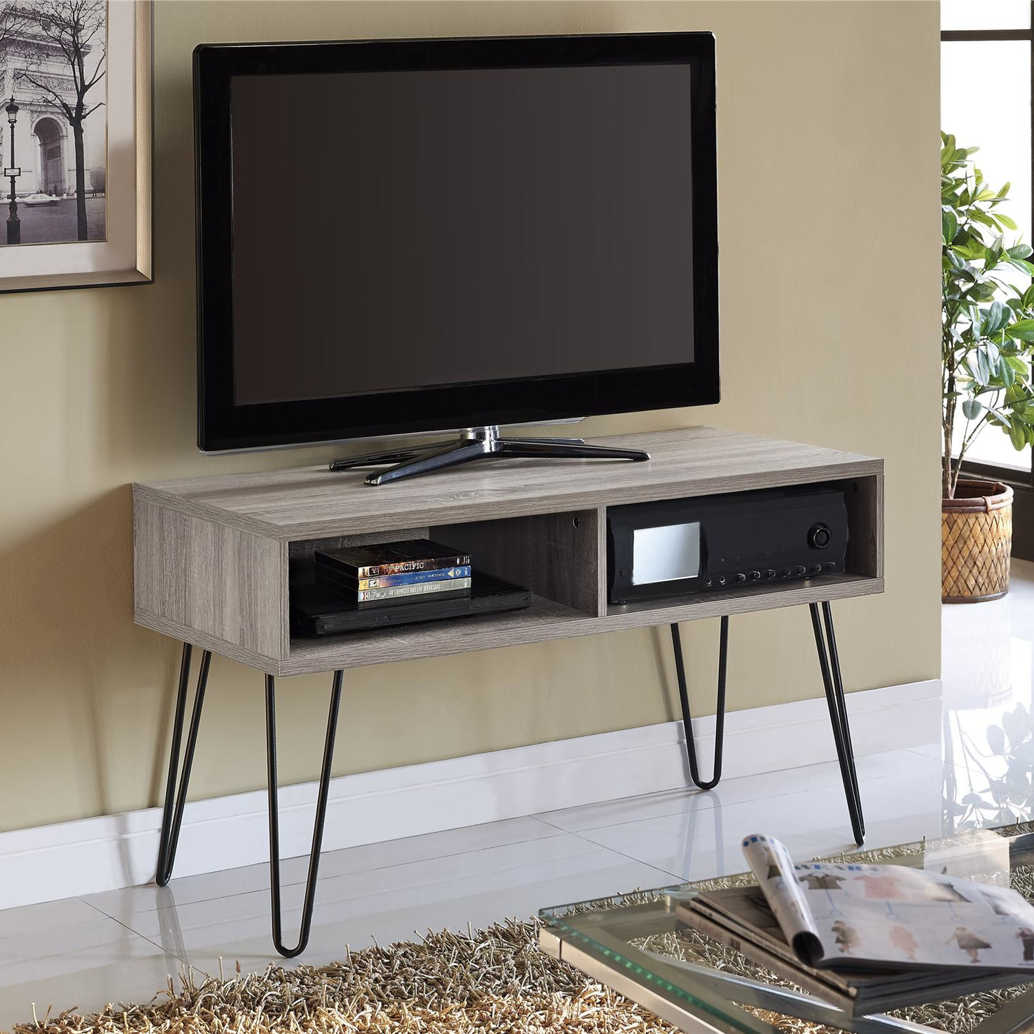 Metal Tv Stands Furniture Home Design Ideas And Pictures # Meuble Tv Chic