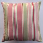 Simple decorative pillow with pink strip pattern