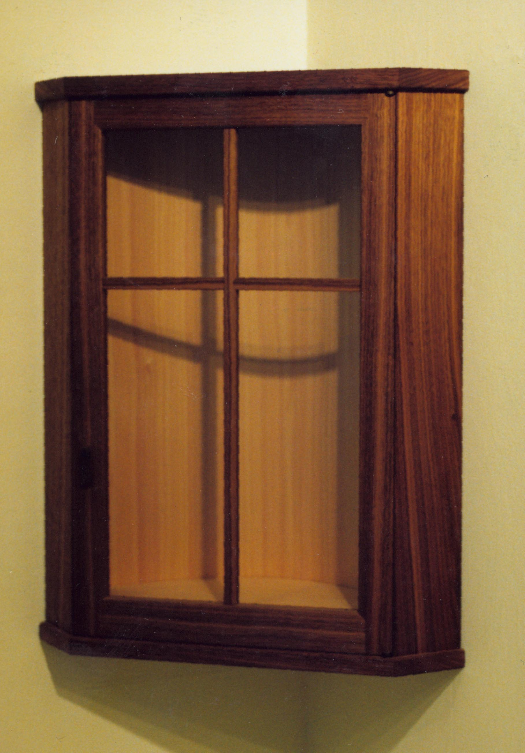 Small And Simple Wooden Cabinet Glass Door