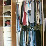 Small Closet Organizer With White Wooden