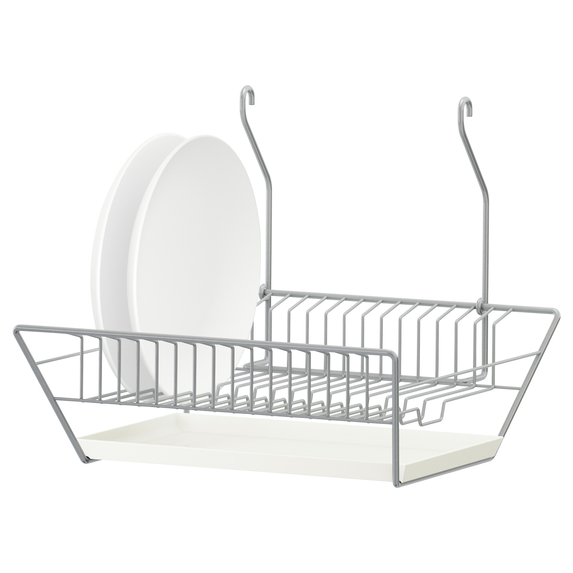 Small DIsh Drying Rack With Two White Plates  sc 1 st  HomesFeed & Ikea Dish Drying Rack | HomesFeed