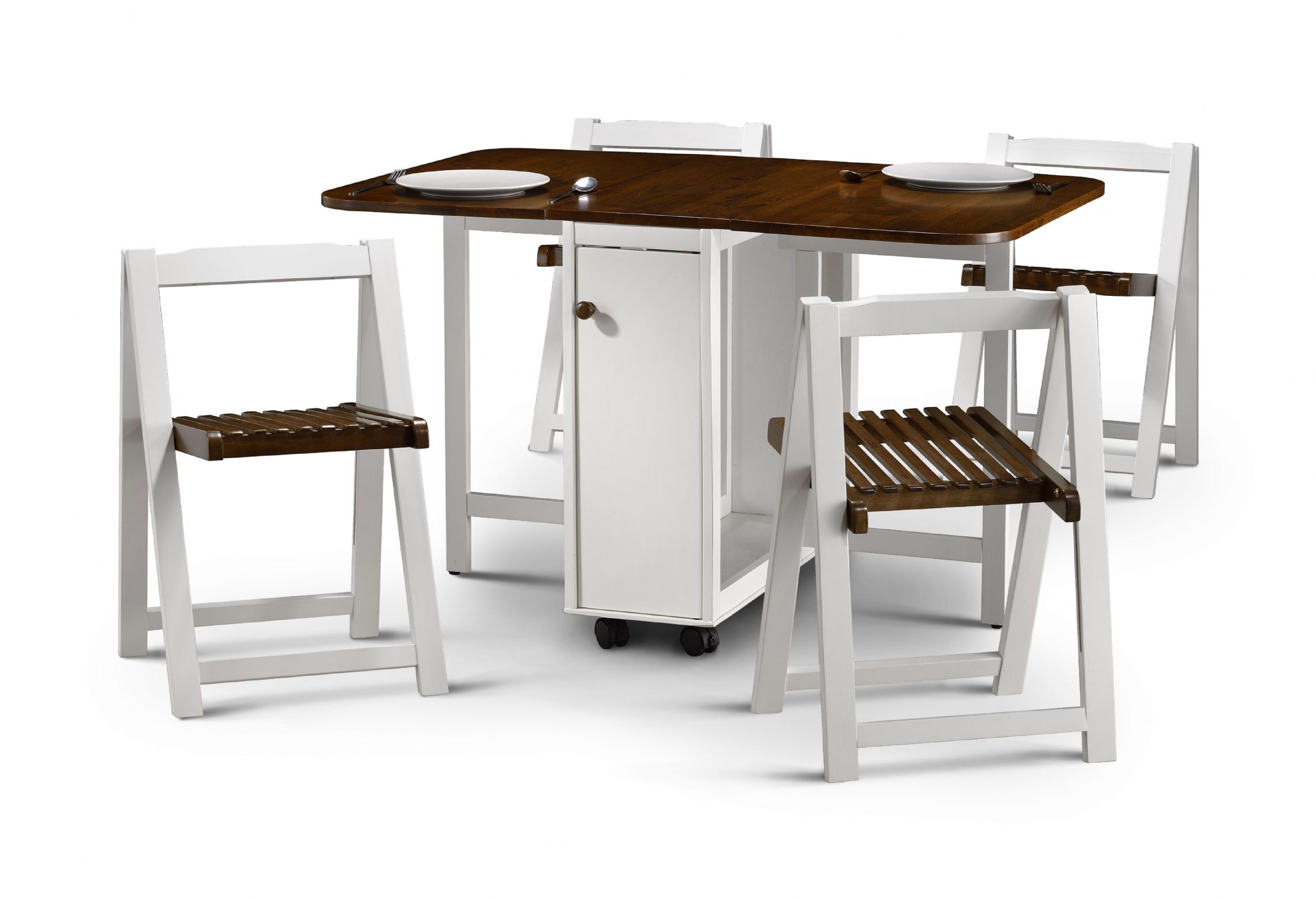 Drop leaf tables for small spaces homesfeed for Small dining table with storage