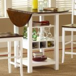 Small Kitchen Drop Leaf Table With Racks Shelfs And Chairs